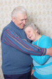 Two elderly people. Man and woman Royalty Free Stock Images