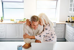 Two elderly people browsing the Internet Stock Images