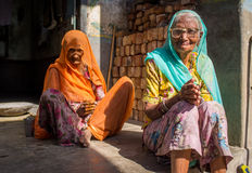 Two elderly women Royalty Free Stock Images