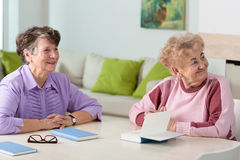 Two elderly women Royalty Free Stock Photography
