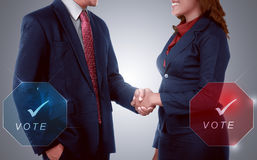 Two election candidates handshake Royalty Free Stock Photo