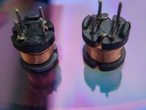 Two electric coils royalty free stock photo