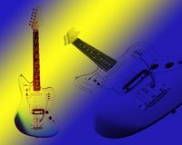 two electric guitars Royalty Free Stock Photo