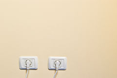 Two electric outlets Royalty Free Stock Photography