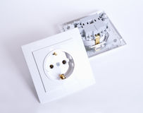 Two Electrical connector on light background.  Royalty Free Stock Images