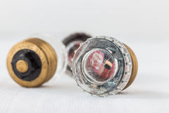 Two electrical fuse box fuses Stock Image