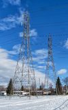 Two Electrical tower Royalty Free Stock Photo