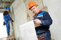 Two electrician workers Royalty Free Stock Photo