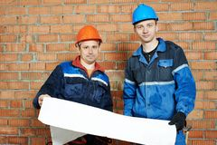 Two electrician workers Stock Photography