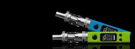 Two electronic cigarettes Royalty Free Stock Images