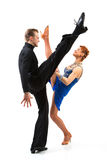 Two elegance dancers. Royalty Free Stock Photography