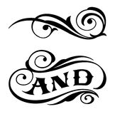 Two Elegance Elements. Vector illustration Royalty Free Stock Image