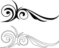 Two Elegance Elements. Vector illustration Royalty Free Stock Photography