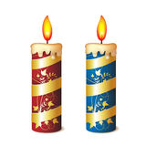 Two elegant candles Stock Photography