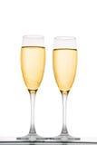 Two elegant champagne glasses Stock Image