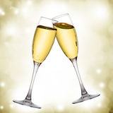 Two elegant champagne glasses Royalty Free Stock Photography