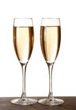 Two elegant champagne glasses Stock Photography