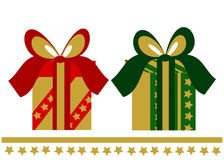 Two elegant Christmas presents Royalty Free Stock Photos