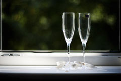 Two elegant flutes Stock Photos