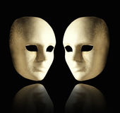 Two elegant masks Royalty Free Stock Photo