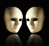 Two elegant masks royalty free stock photo