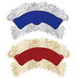 Two elegant ribbons frames in baroque style. Stock Photography