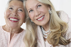 Two Elegant Senior Women Smiling Royalty Free Stock Image