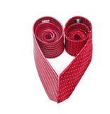 Two elegant silk male ties (necktie) on white Royalty Free Stock Photography
