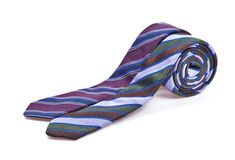 Two elegant silk male ties (necktie) on white. Background Stock Photos