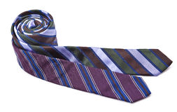 Two elegant silk male ties (necktie) on white. Background Stock Photo