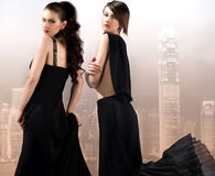 Two elegant woman Royalty Free Stock Image