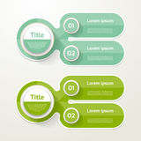 Two elements banner. 2 steps design, chart, infographic, step by. Step number option, layout Stock Photo