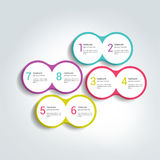 Two elements scheme, diagram. Infographic duo template. Various color banners Royalty Free Stock Images