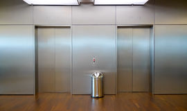Two elevator doors Royalty Free Stock Photos