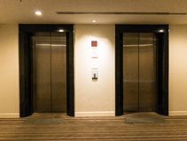 Two elevator doors Stock Photo