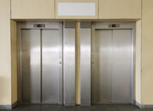 Two elevators Stock Photography