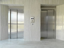 Two elevators. Two elevator doors in a luxurious bulding royalty free stock photos