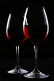 Two ellegant glasses fith wine Stock Image