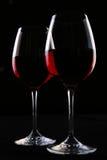 Two ellegant glasses fith wine stock image