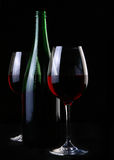 Two ellegant glasses fith wine Royalty Free Stock Photos