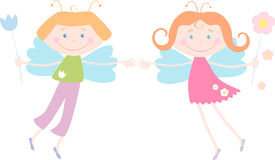 Two elves Royalty Free Stock Photo