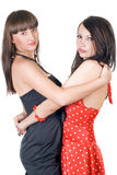 Two embracing beauty young women Stock Photography