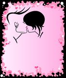Two emo lovers kiss. Two emo crazy lovers kiss Royalty Free Illustration
