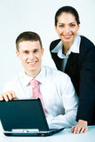 Two employees Royalty Free Stock Photo