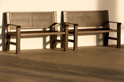 Two Empty Benches Royalty Free Stock Photography