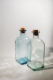 Two empty bottles Stock Photos