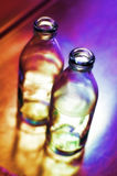 Two empty bottles Royalty Free Stock Image