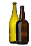 Two empty bottles Stock Images