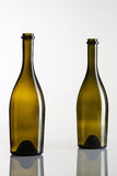 Two empty bottles of wine Royalty Free Stock Image