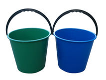 Two Empty Buckets stock photography